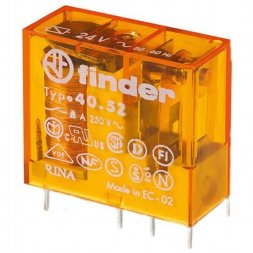 40.52.8.024.0000 FINDER Power relay 24VAC 8A 2c 320R PCB/Plug-in