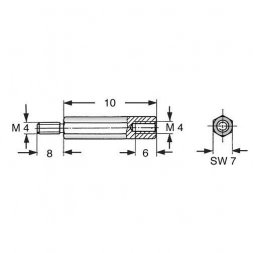 DA7 M4x10 VARIOUS Metal Standoffs