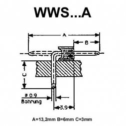 WWS 36 A VARIOUS Pin Header 1x36P P2,54mm THT Right Angle Gold-plated