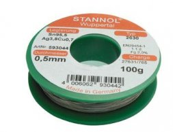 2630 Sn95Ag4Cu1 0,7mm 250g (2630 ECOLOY® TSC) STANNOL