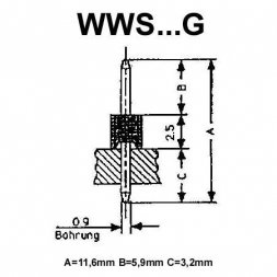 WWS 08 G VARIOUS Pin Header 1x8P P2,54mm THT Gold-plated