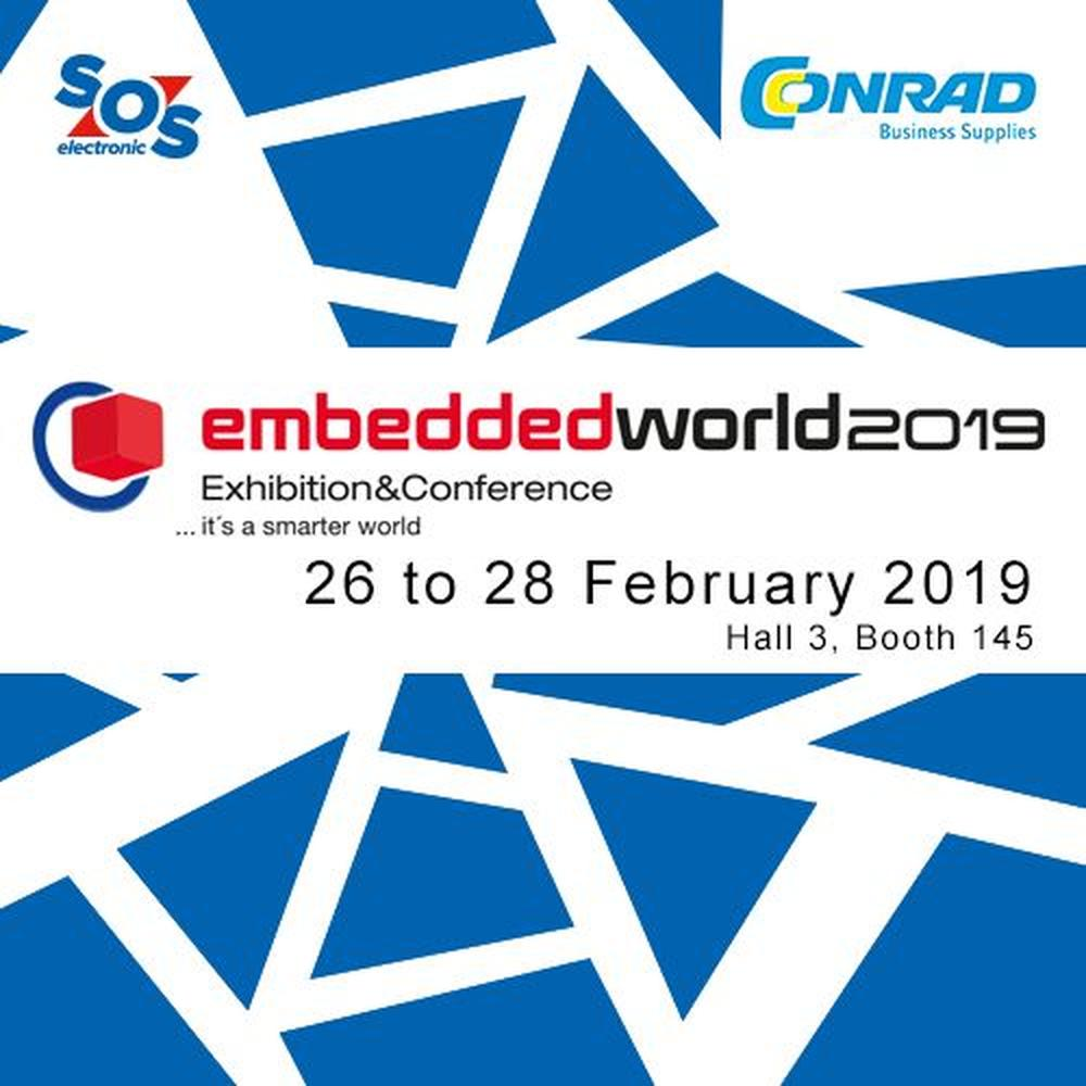 SOS electronic vystavuje na Embedded world 2019